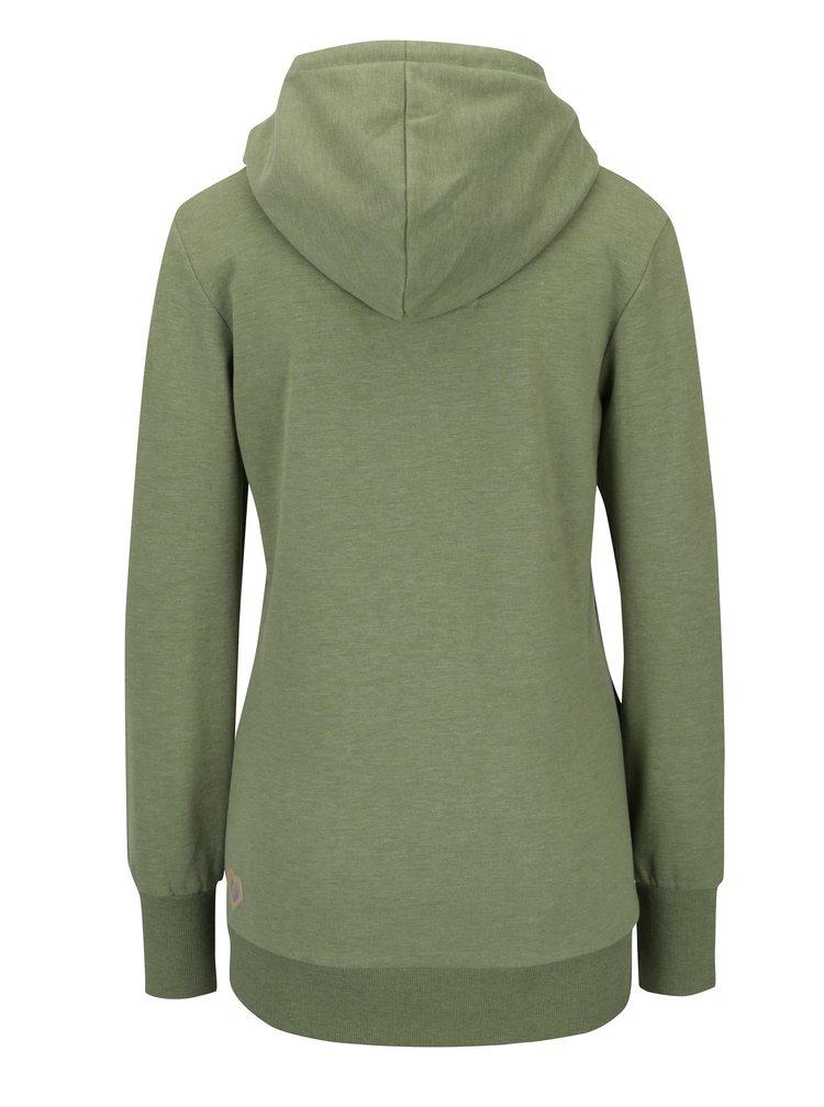 Zelená dámská žíhaná mikina s kapucí Ragwear Chelsea Beat Organic