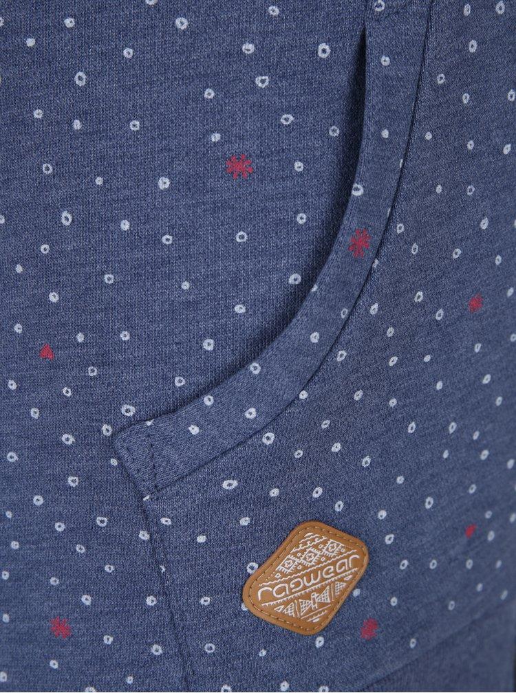 Modrá dámská vzorovaná mikina na zip Ragwear Chelsea  Hearts Zip