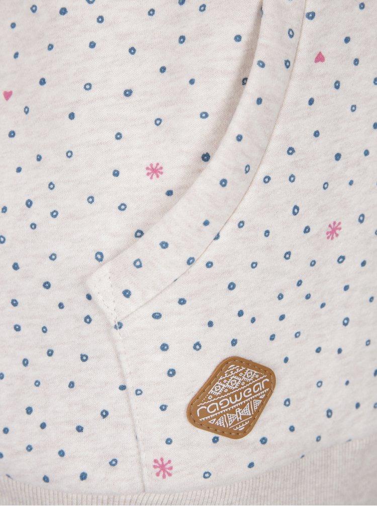 Krémová dámská vzorovaná mikina na zip Ragwear Chelsea  Hearts Zip