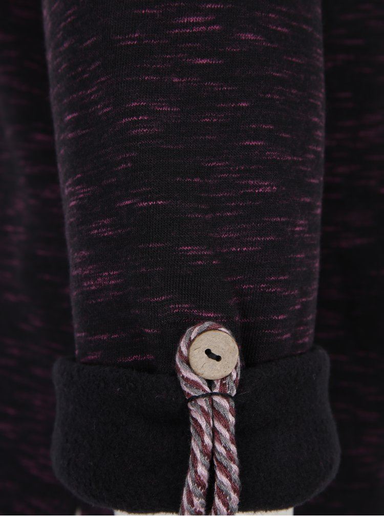 Bluza sport neagra cu guler inalt Ragwear Denise
