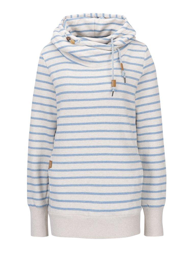 Hanorac crem&albastru cu dungi și buzunare  Ragwear Beat Stripes