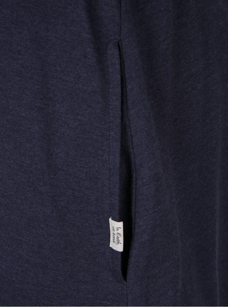 Tmavě modré pruhované šaty s páskem Ragwear Daya Organic