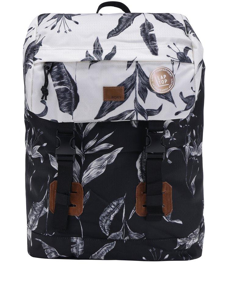 Rucsac pentru laptop cu print negru & alb - Roxy Sunset Pacific