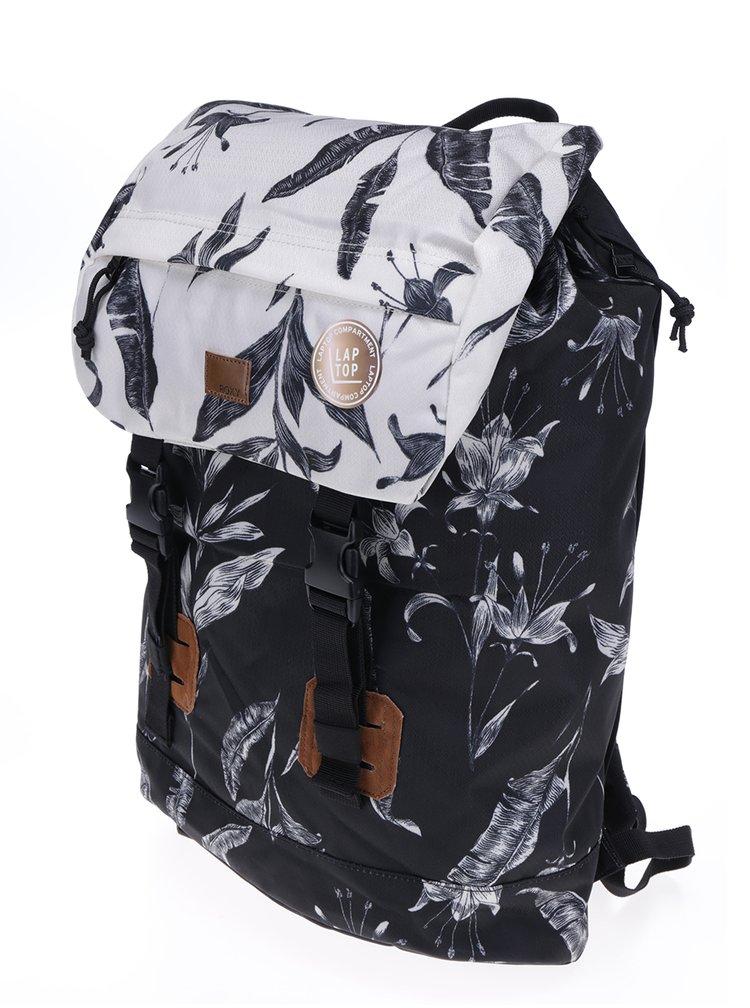 Bílo-černý květovaný batoh  Roxy Sunset Pacific