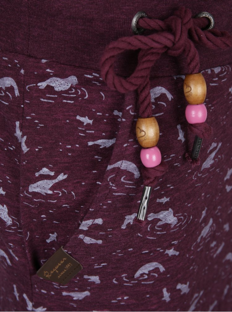 Rochie violet cu cordon si imprimeu Ragwear Penelope