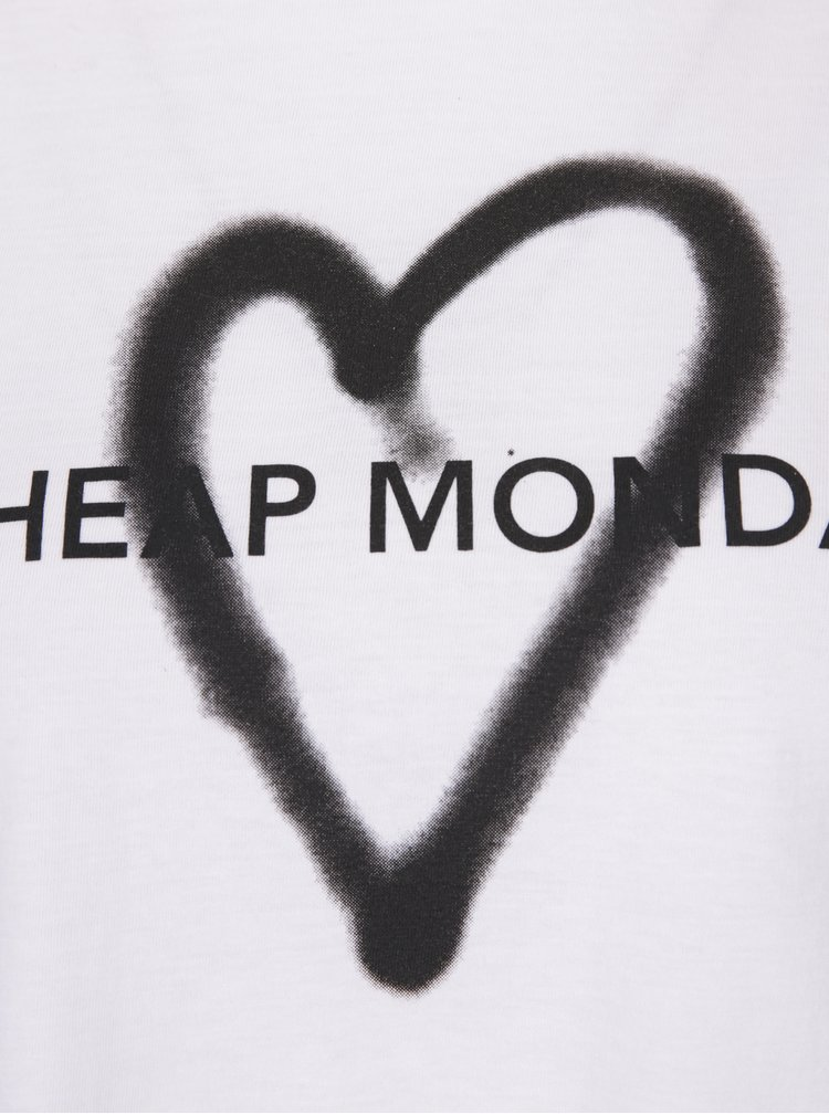 Tricou alb cu print Cheap Monday Love