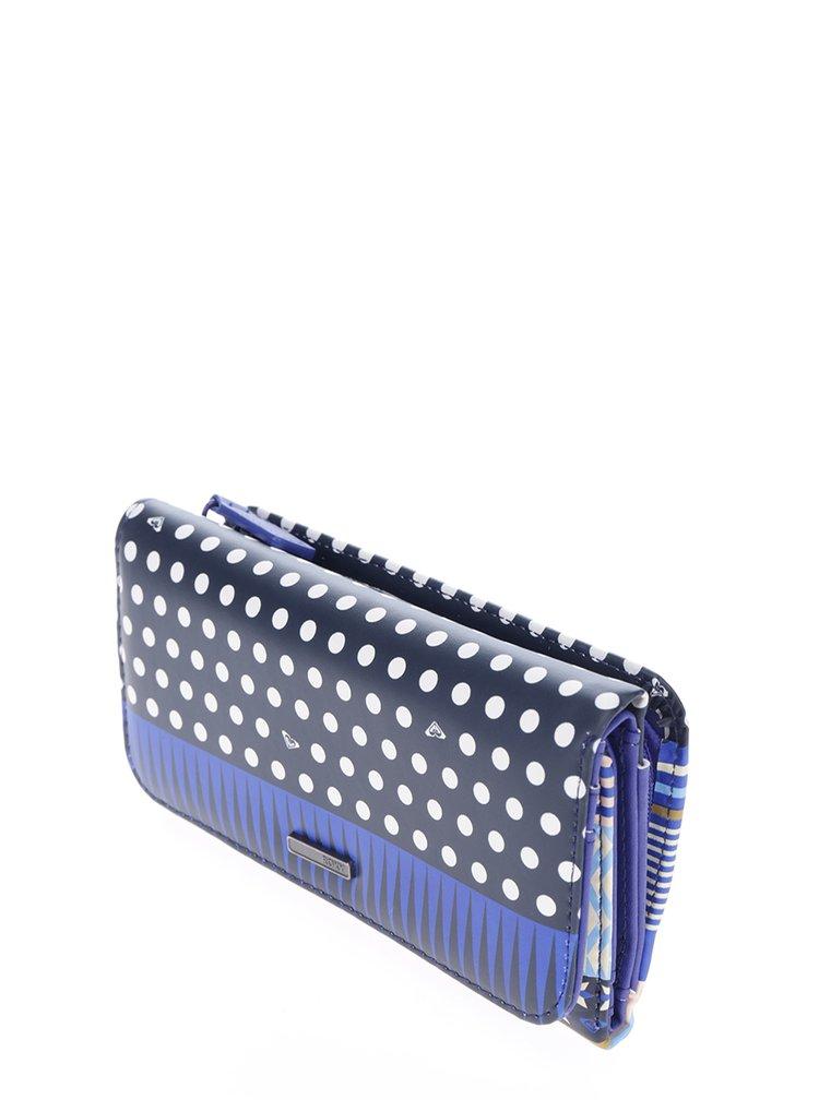 Tmavě modrá vzorovaná peněženka Roxy My Long Eyes