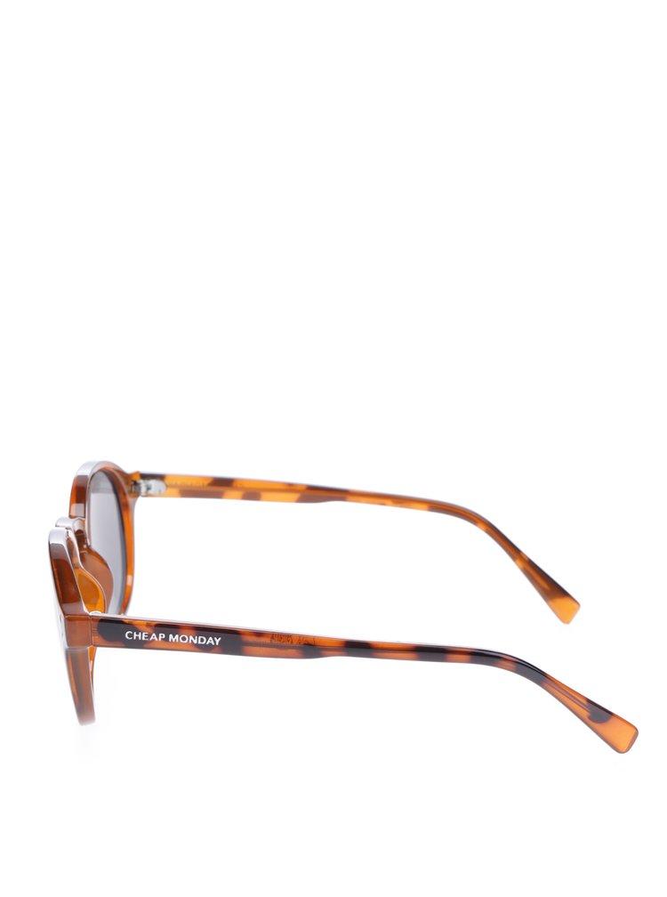 Hnedé dámske vzorované slnečné okuliare Cheap Monday Cytric