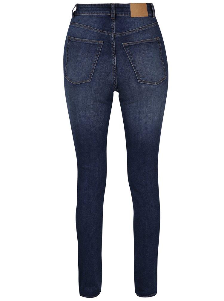 Modré dámské skinny džíny s vysokým pasem Cheap Monday Low
