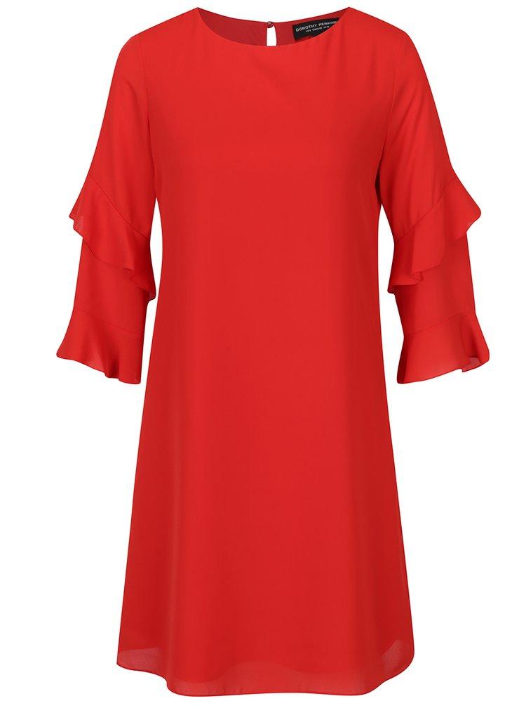 Rochie roșie cu volane Dorothy Perkins