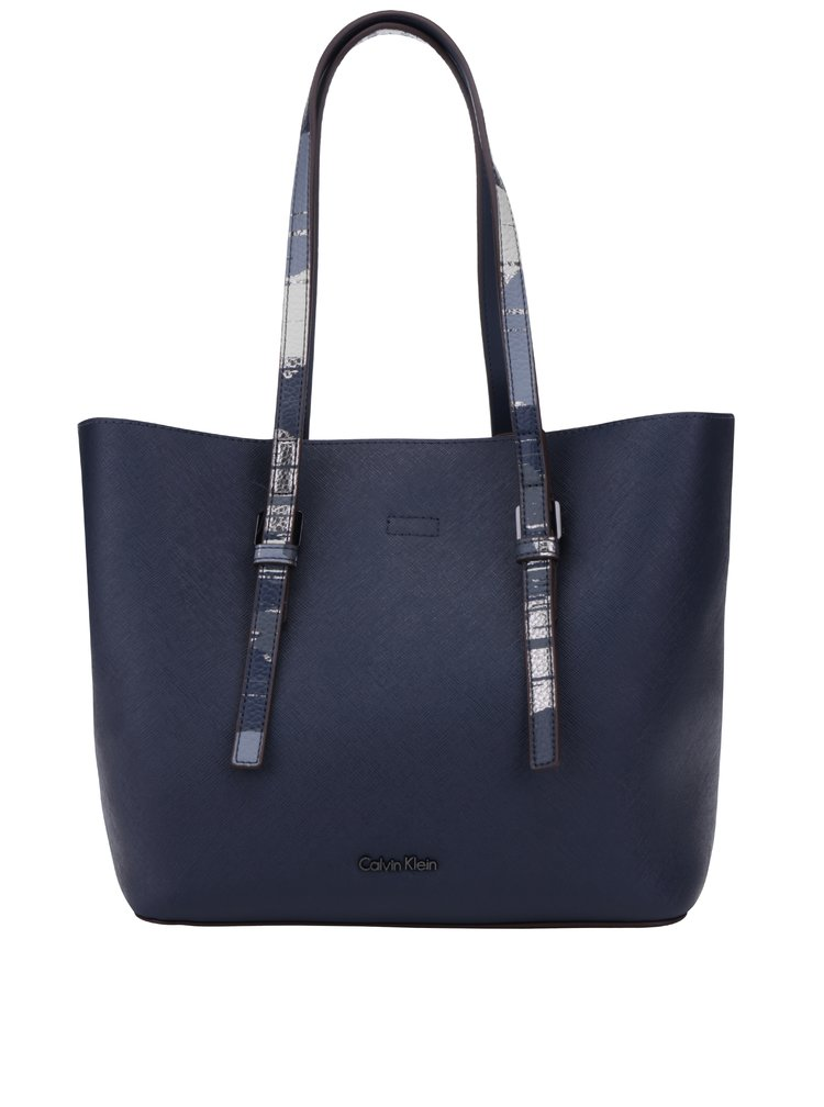 Tmavě modrý shopper s pouzdrem 2v1 Calvin Klein Jeans CK