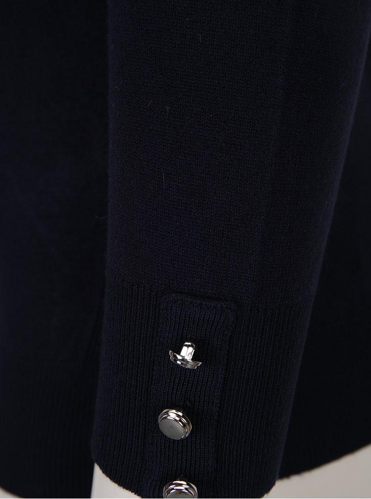 Tmavě modrý svetr na knoflíky Dorothy Perkins