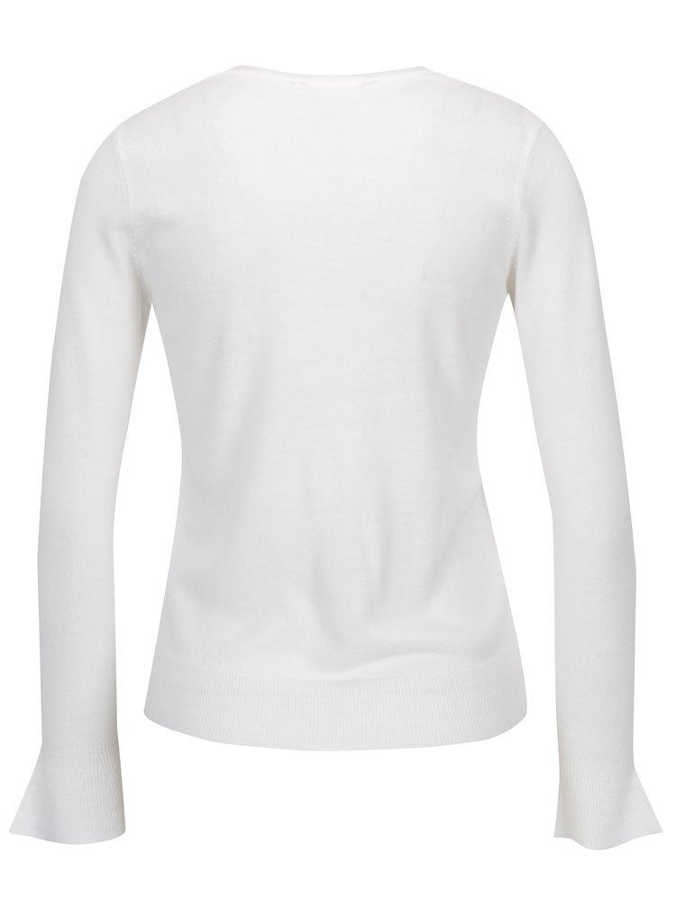 Pulover alb cu mansete ample Dorothy Perkins