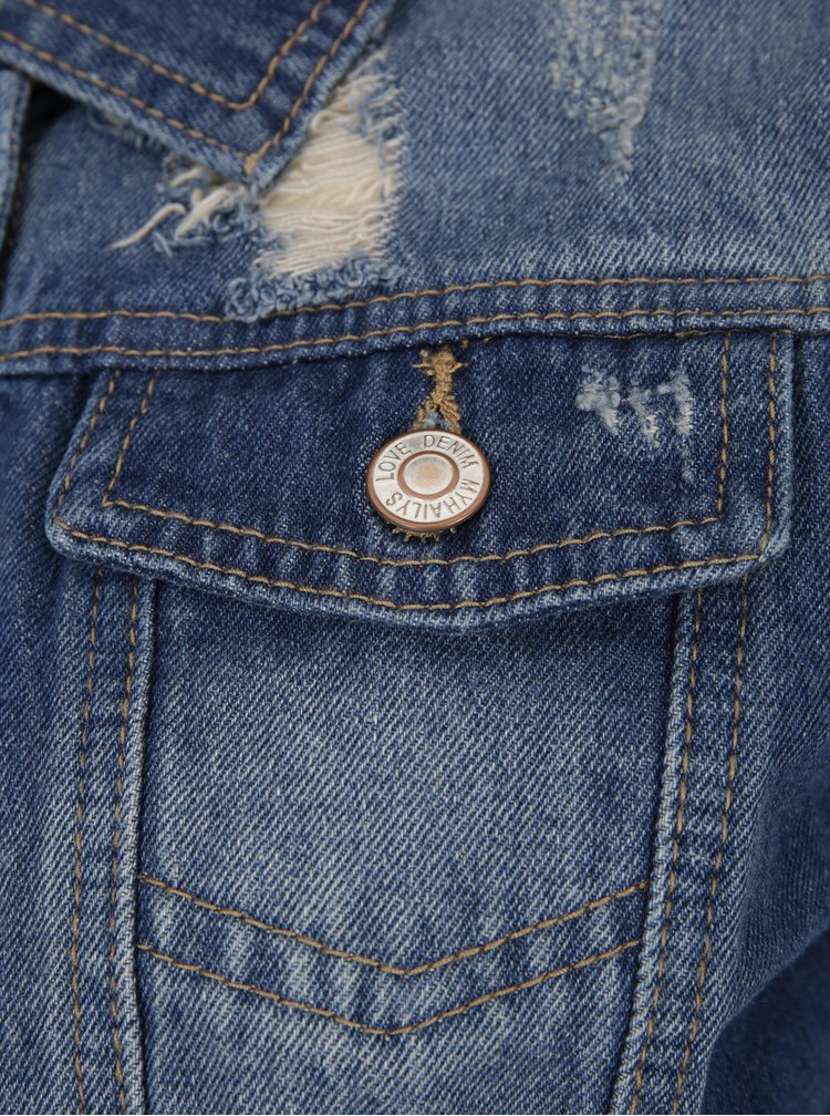 Jacheta din denim albastru cu efect uzat - Haily´s Olivia