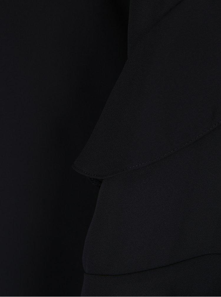 Rochie neagră cu volane Dorothy Perkins