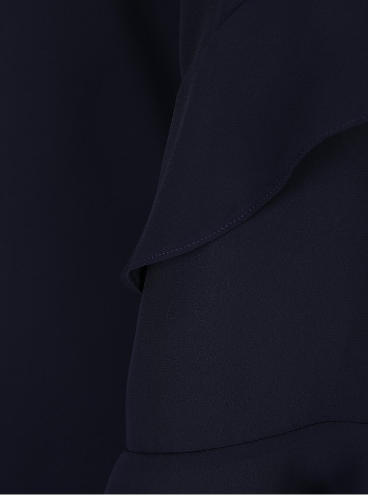 Tmavě modré šaty s volány na rukávech Dorothy Perkins