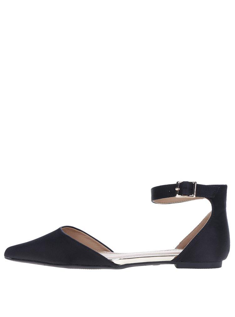 Sandale negre cu baretă pe gleznă - Dorothy Perkins