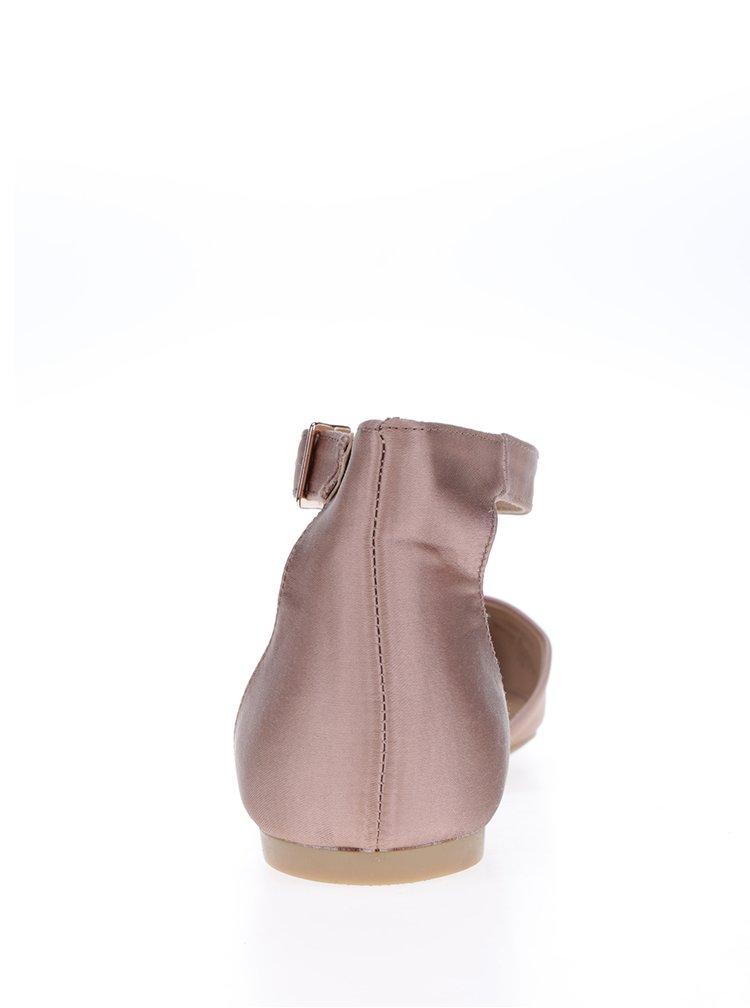 Růžové sandálky s uzavřenou patou Dorothy Perkins