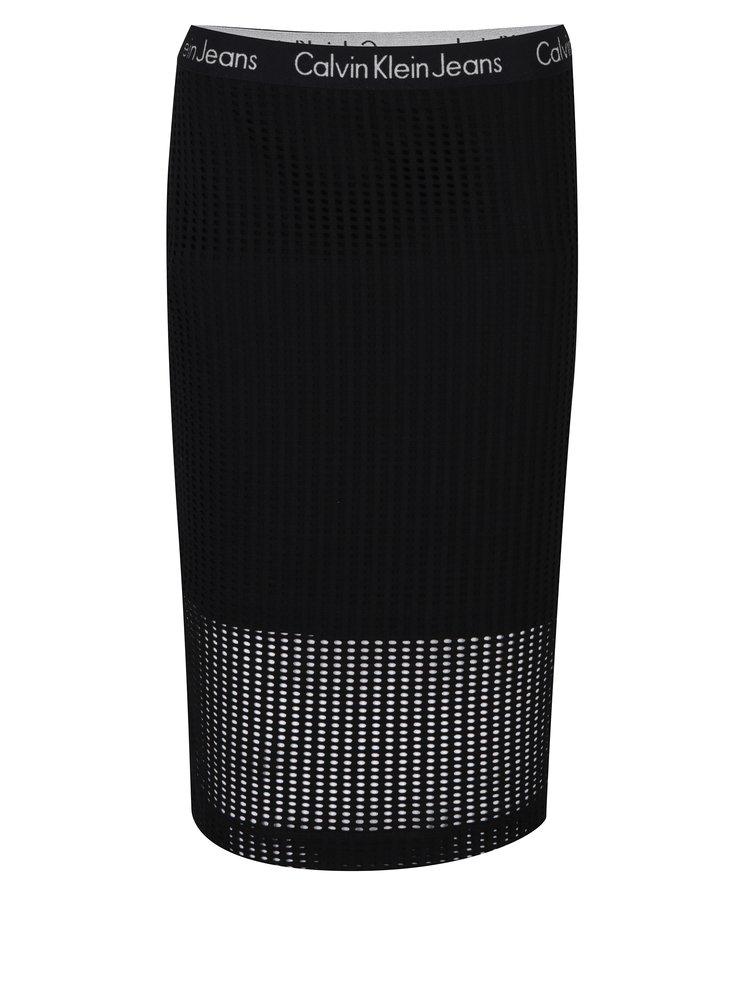 Černá pouzdrová sukně Calvin Klein Jeans Kallie