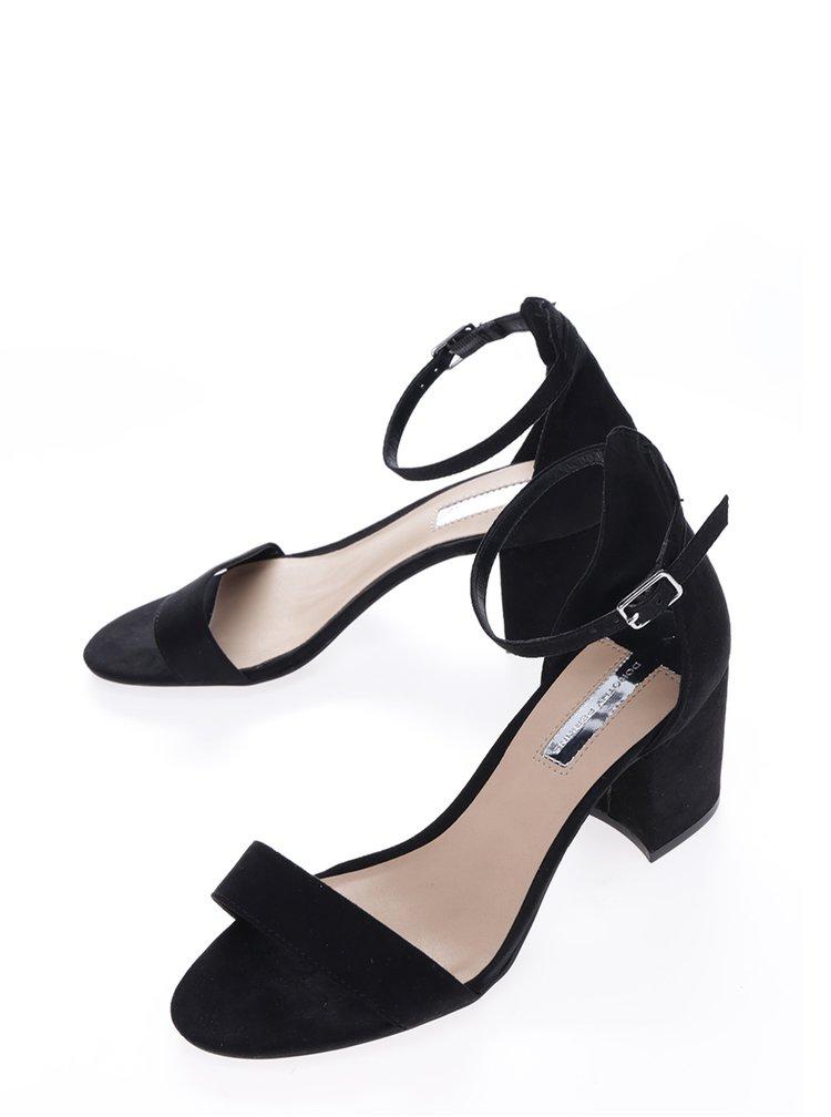 Sandale negre cu bareta si toc gros - Dorothy Perkins