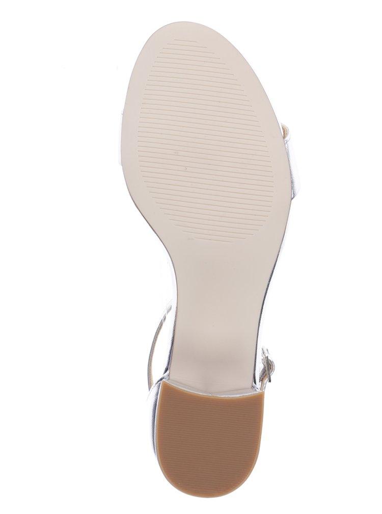 Lesklé sandálky ve stříbrné barvě Dorothy Perkins