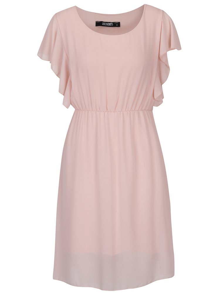 Rochie roz cu mâneci fluture - Haily´s Beth
