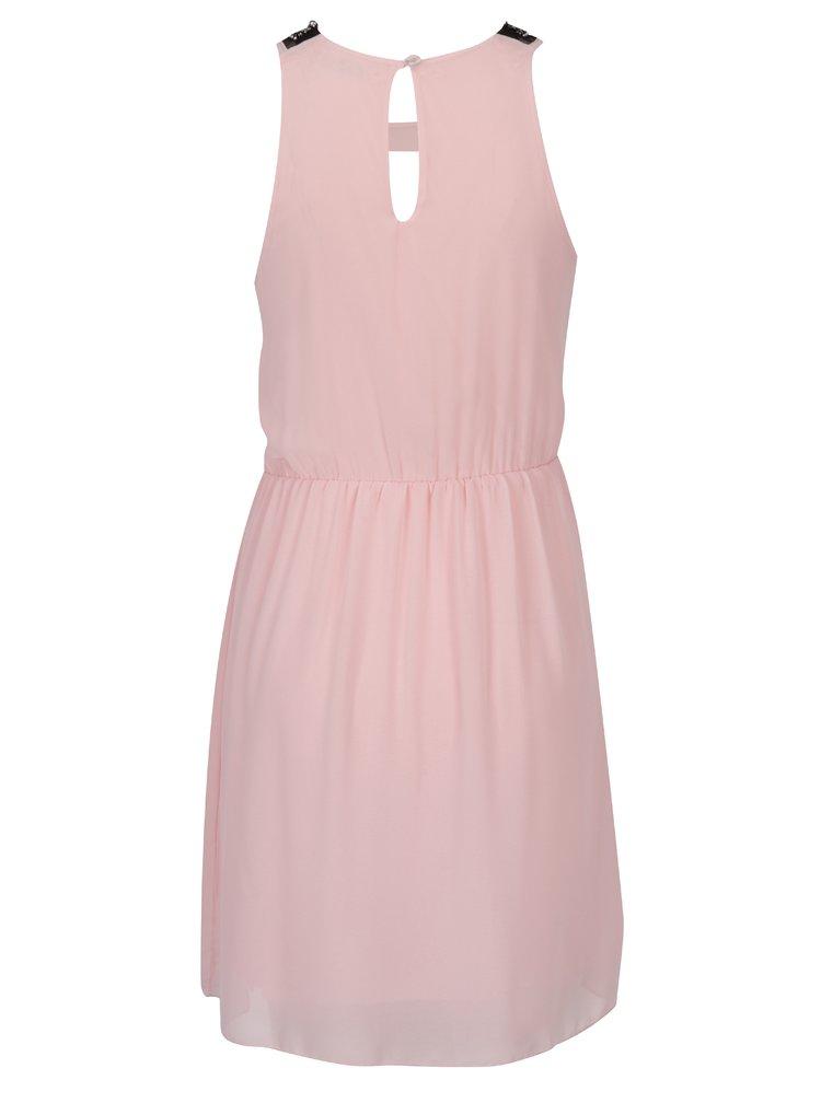 Rochie roz cu guler cu detalii - Haily´s Lucilly