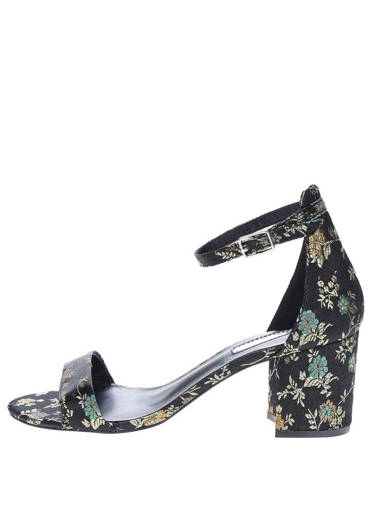 Černé květované sandálky Dorothy Perkins