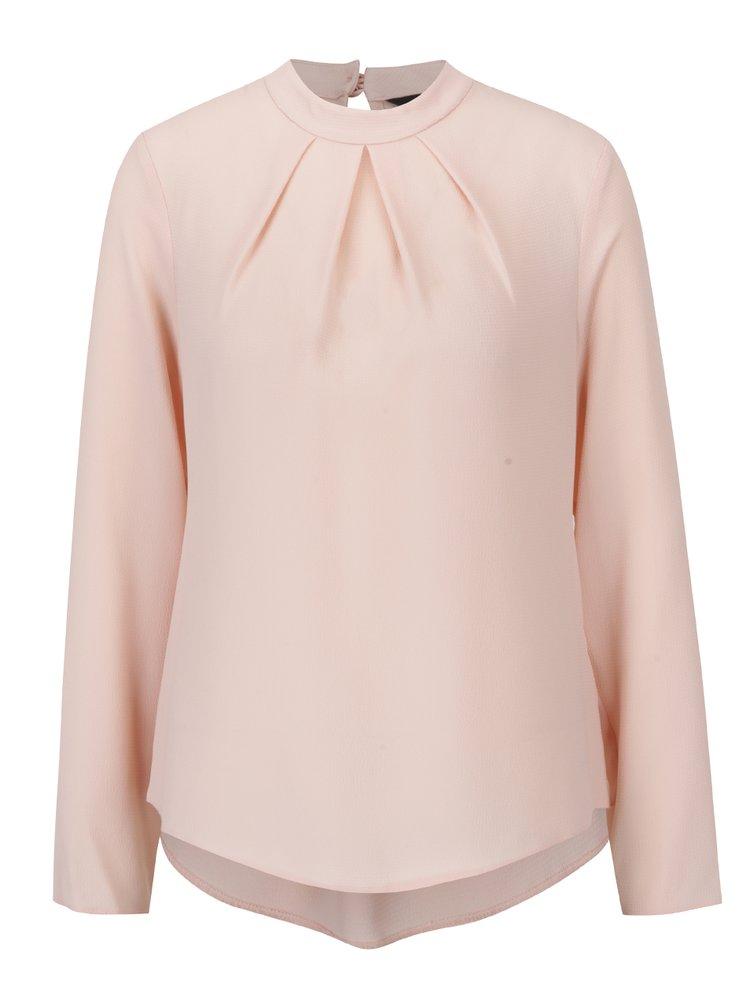 Bluza roz piersica cu pliuri  Dorothy Perkins