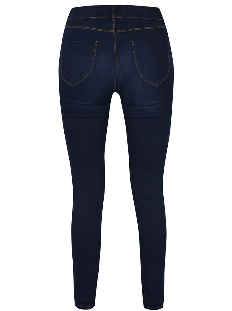 Jeggings albastri cu aspect decolorat  Dorothy Perkins