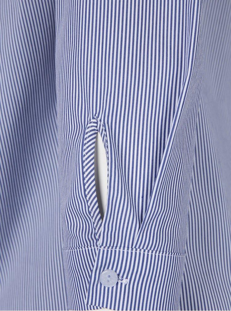 Krémovo-modrý pruhovaný top s odhalenými ramenami Dorothy Perkins