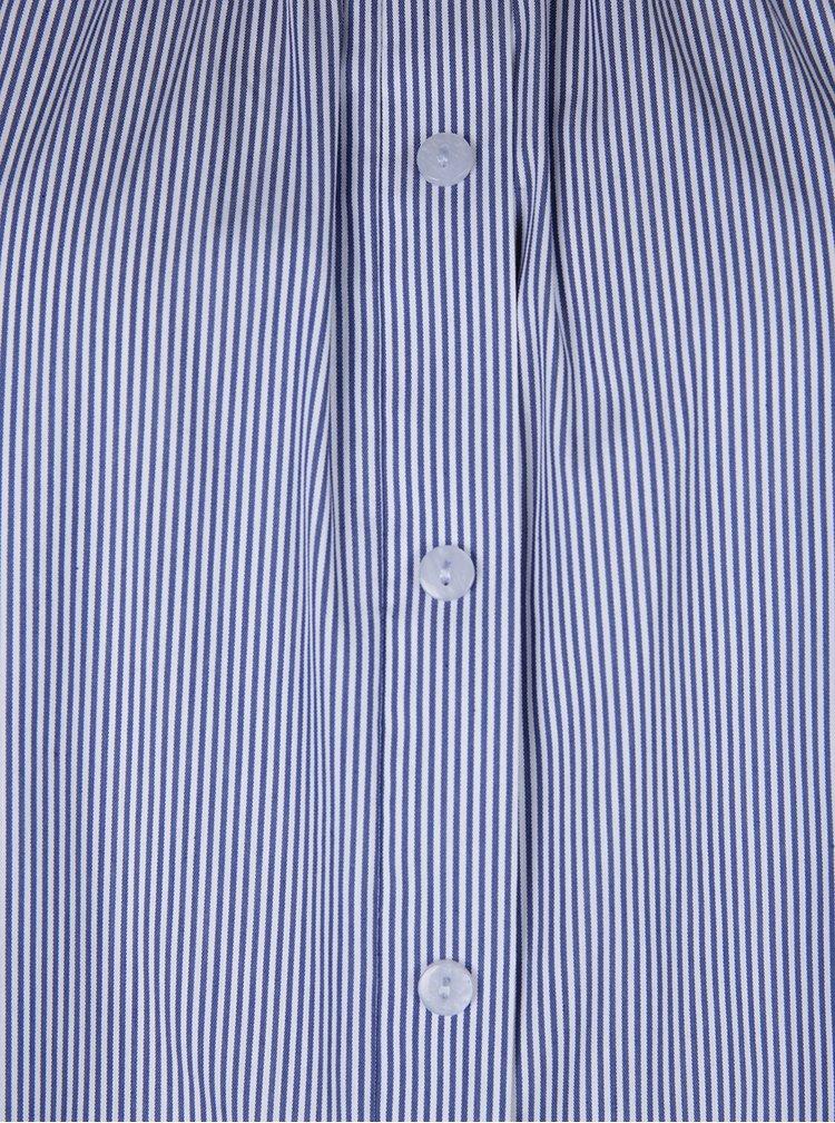 Krémovo-modrý pruhovaný top s odhalenými rameny Dorothy Perkins