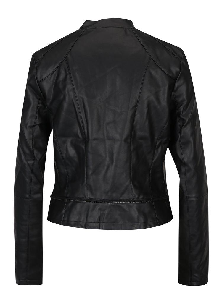 Jachetă neagră cu fermoar asimetric - TALLY WEiJL