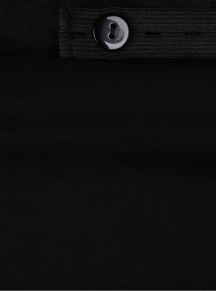 Černé zkrácené těhotenské bootcut džíny Dorothy Perkins Maternity
