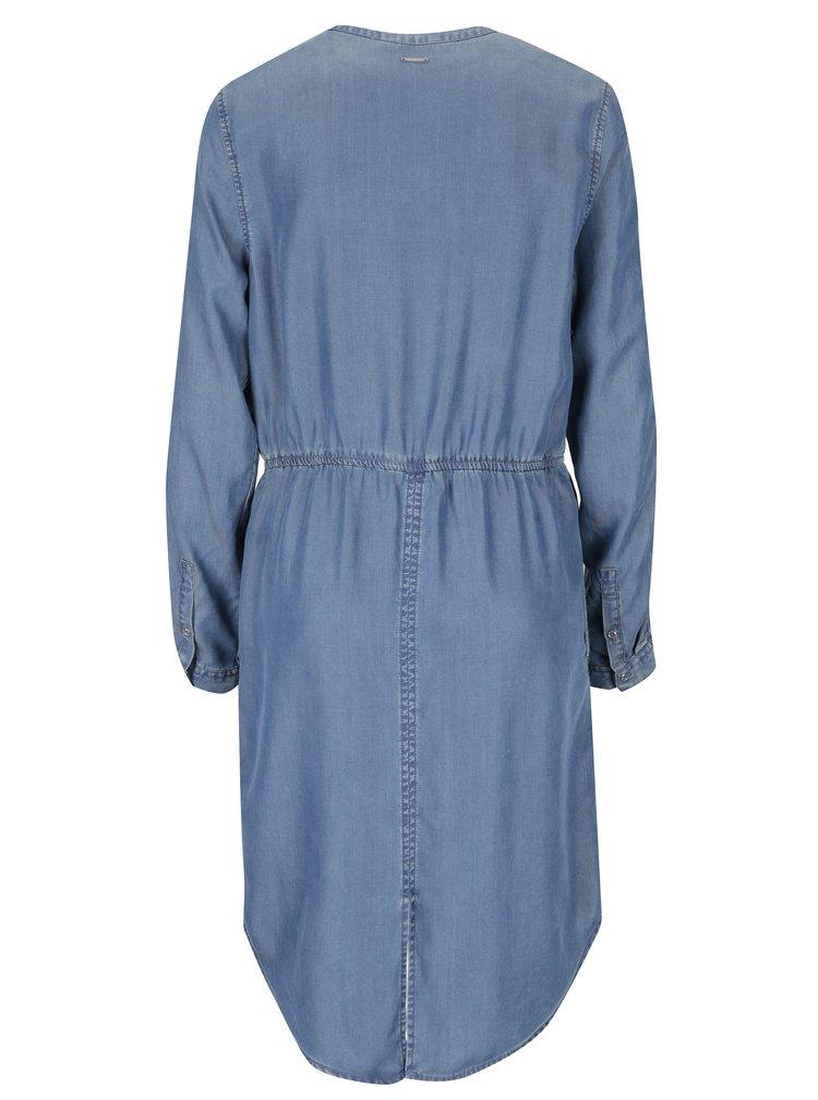 Džínové šaty s dlouhým rukávem Calvin Klein Jeans Daniti