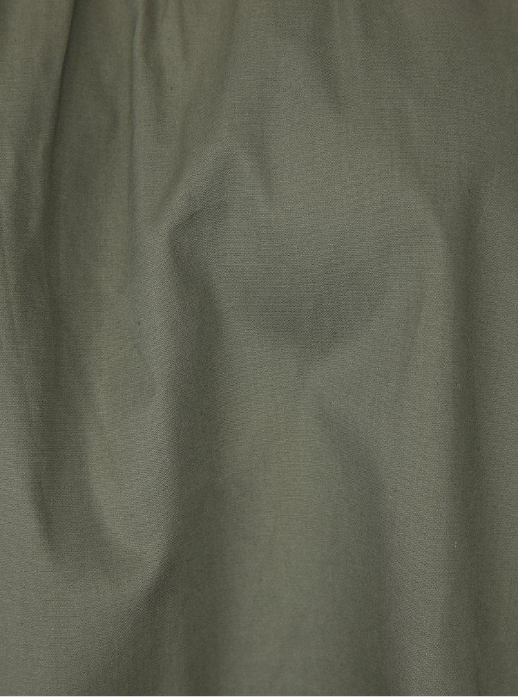 Khaki halenka s odhalenými rameny Haily´s Cora