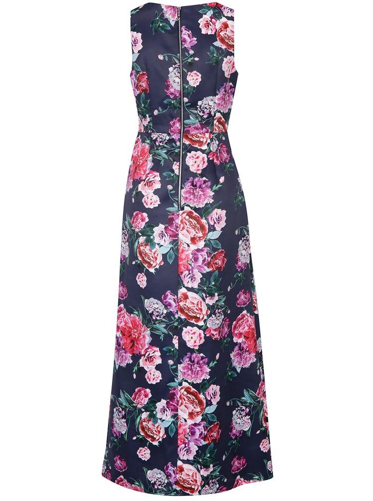 Růžovo-modré květované maxišaty Dorothy Perkins
