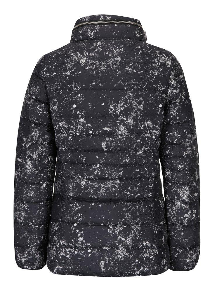 Černá žíhaná dámská prošívaná bunda Calvin Klein Jeans Obara