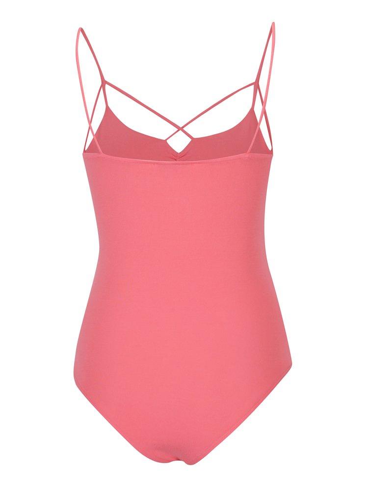 Body roz  deschis cu bretele încrucișate - TALLY WEiJL