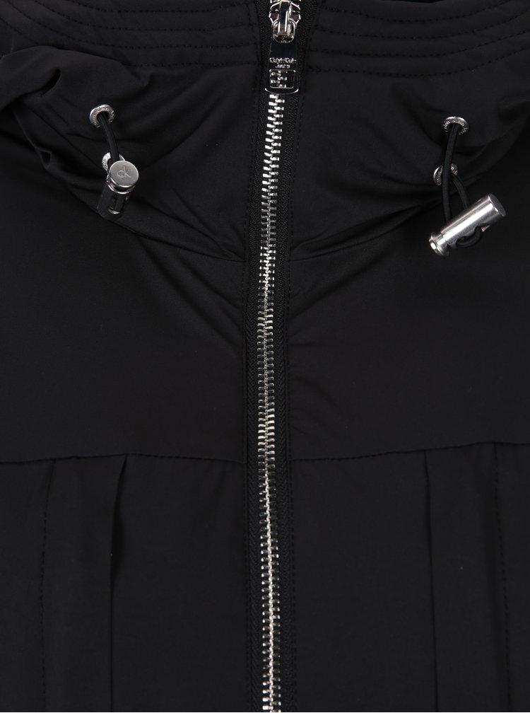 Černá dámská parka na zip Calvin Klein Jeans Odessa