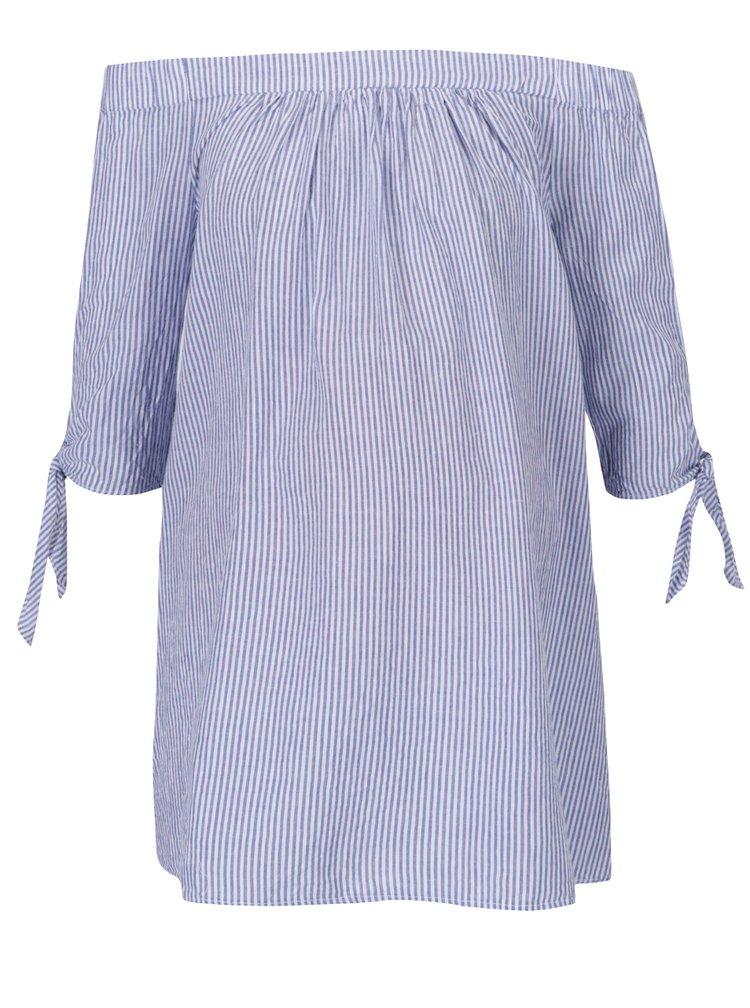 Světle modrý těhotenský top s odhalenými rameny Dorothy Perkins Maternity