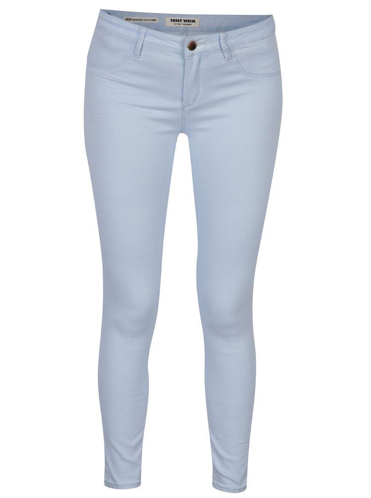 Světle modré push-up skinny džíny TALLY WEiJL