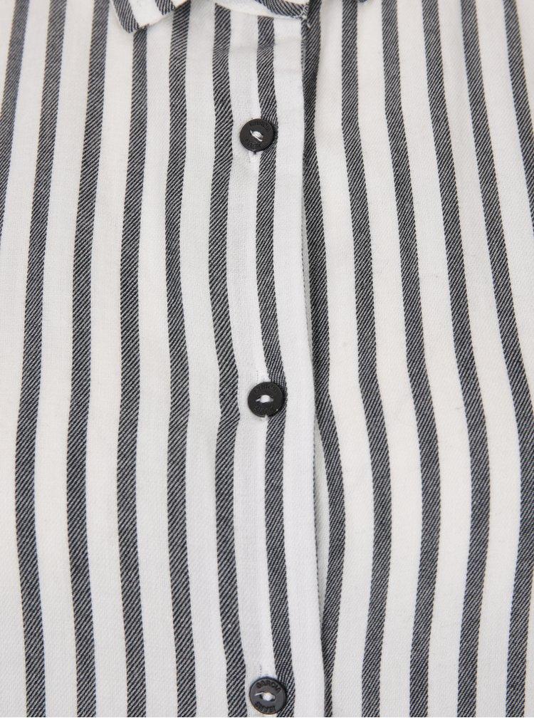 Cămașă în dungi alb negru Garcia Jeans