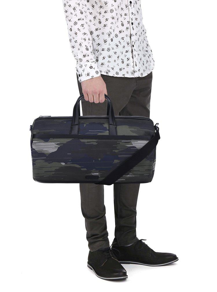 Zelená maskáčová pánská taška Calvin Klein Jeans Finton
