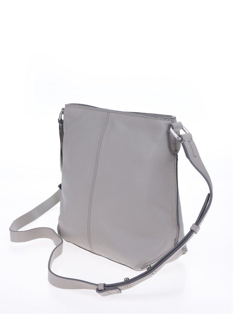 Světle šedá kožená crossbody kabelka Clarks Topsham Jewel