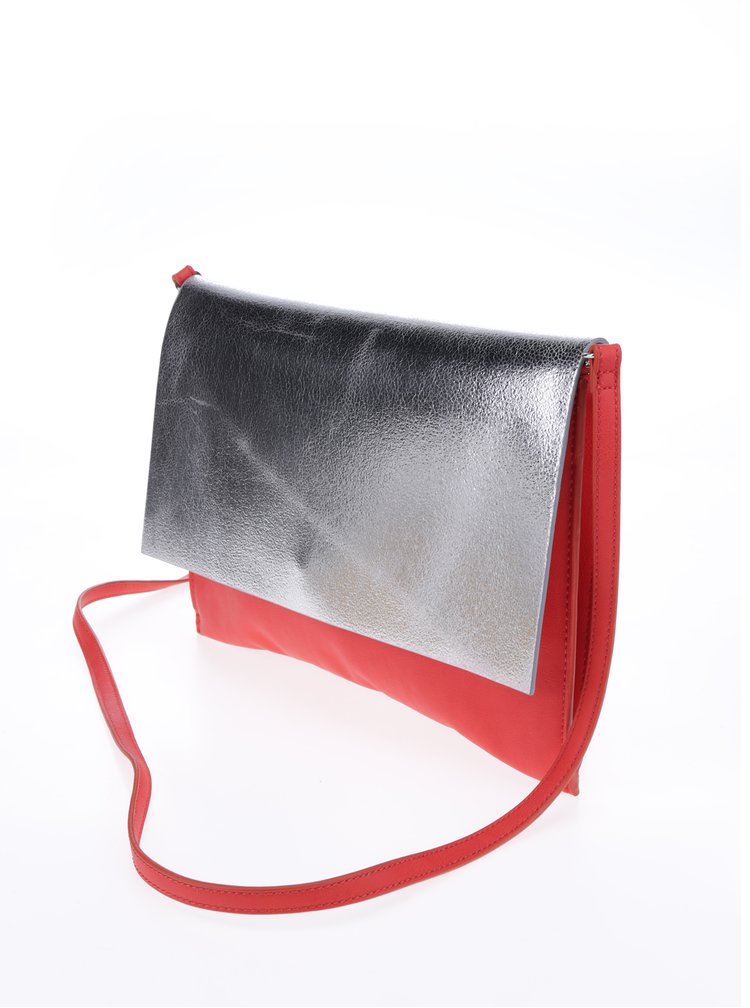 Geantă crossbody gri & roșu - Clarks Moroccan Jewel