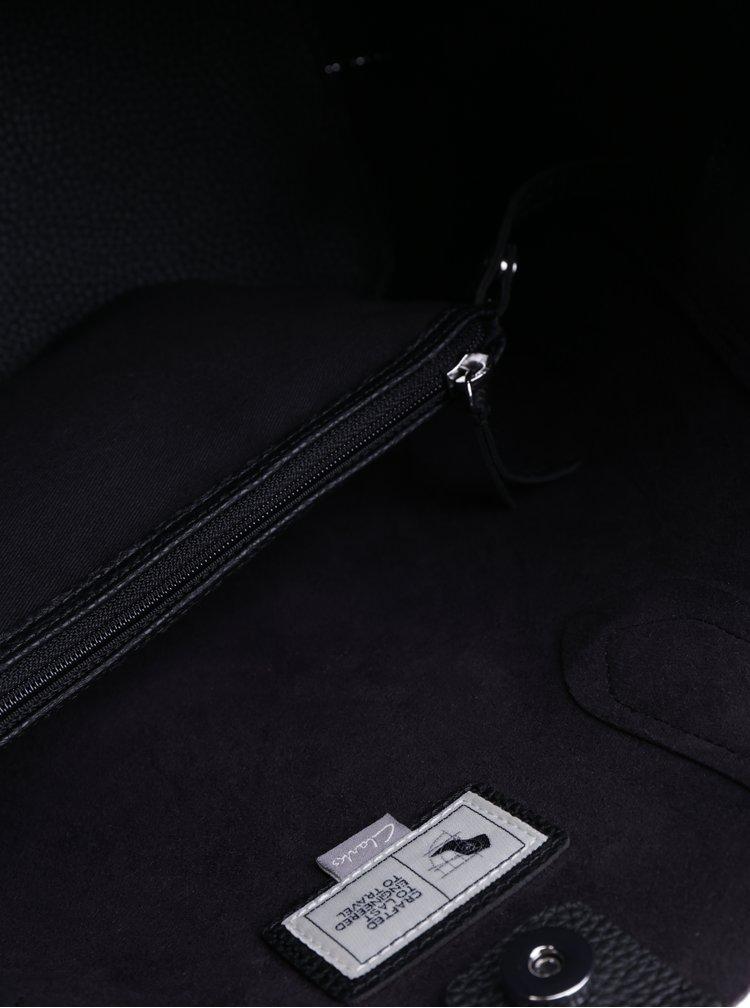 Geanta shopper neagra cu aspect 2 in 1 - Clarks Madelina Lily