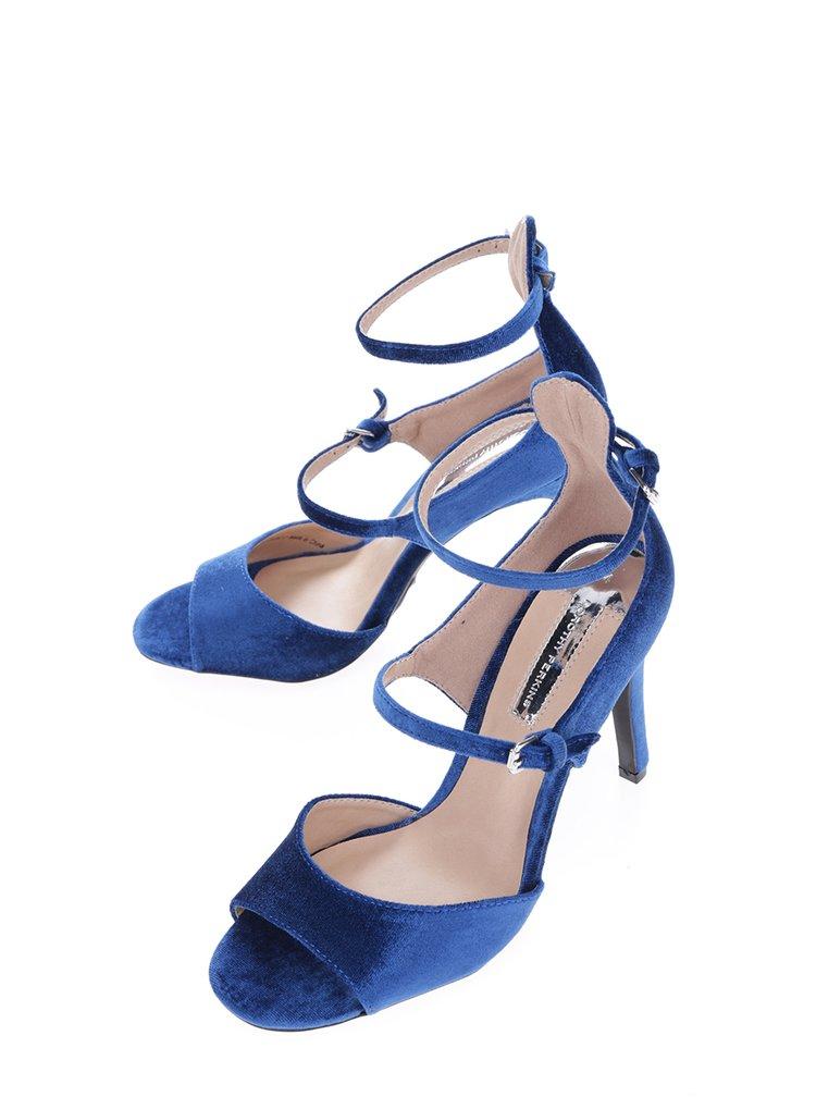 Modré sametové sandálky Dorothy Perkins