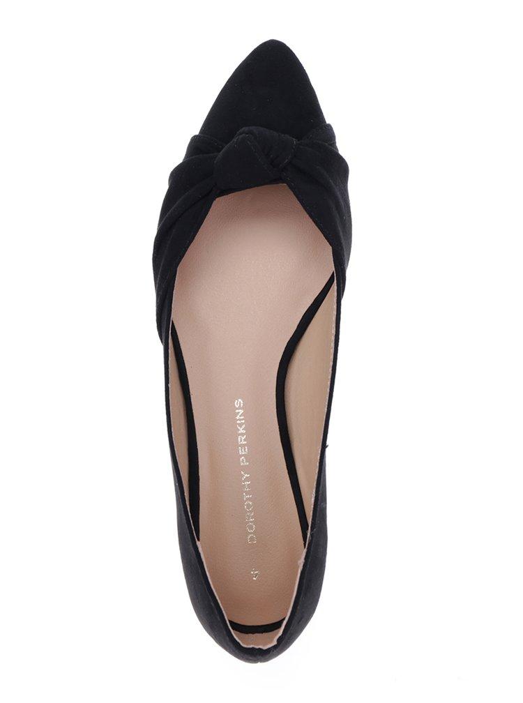 Černé baleríny v semišové úpravě Dorothy Perkins