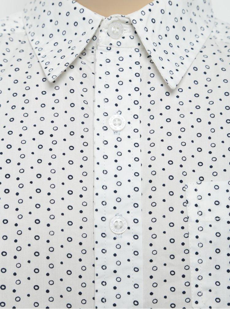 Krémová chlapčenská vzorovaná košeľa Blue Seven